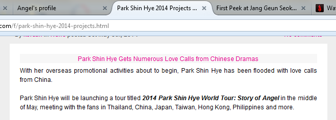 I'm waiting for this! Yea. PSH again here in the Philippines! Oh well it must be! #2014ParkShinHyeWorldTour:StoryOfAngel